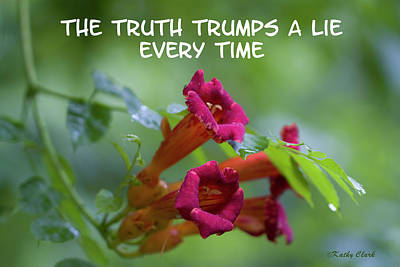 Photograph - Truth Trumps A Lie Every Time by Kathy Clark