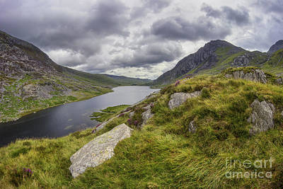 Photograph - Tryfan And Lake Ogwen by Ian Mitchell