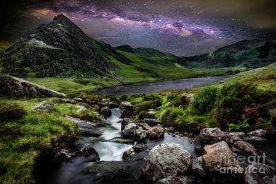 Photograph - Tryfan By Starlight by Adrian Evans