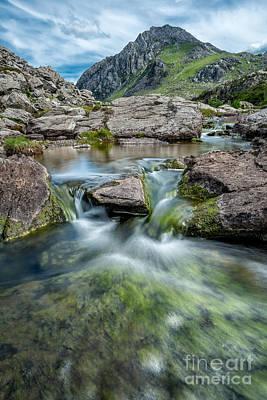 North Wales Digital Art - Tryfan Stream by Adrian Evans