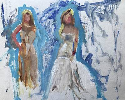 Painting - Trying On Dresses by Carol Berning