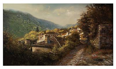 Painting - Tsepelovo Zagoroxoria by Demetrios Vlachos