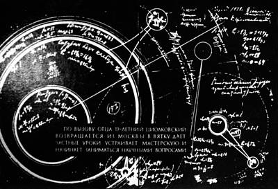 Space Travel Photograph - Tsiolkovsky's Works On Space Conquest by Ria Novosti