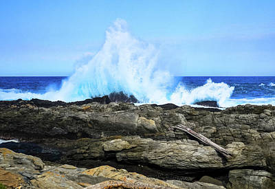 Photograph - Tsitsikamma National Park Mpa Tidal Wave Splash by Jeff at JSJ Photography