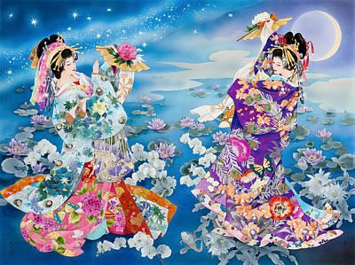 Kimonos Photograph - Tsuki Hoshi by Haruyo Morita