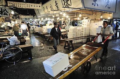 Japan Photograph - Tsukiji Market At Work by Andy Smy
