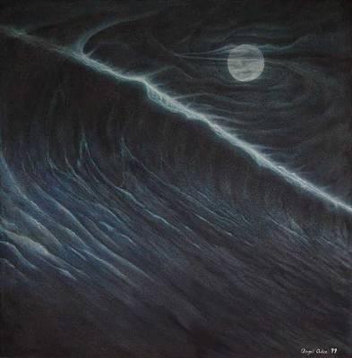 Tsunami Art Print by Angel Ortiz