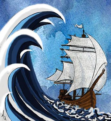 Tsunami Original by Michelle Rene Goodhew