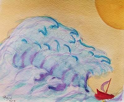 Painting - Tsunami Sun by Rand Swift