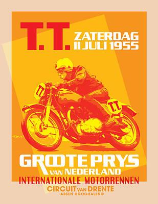 Painting - Tt Racing by Gary Grayson