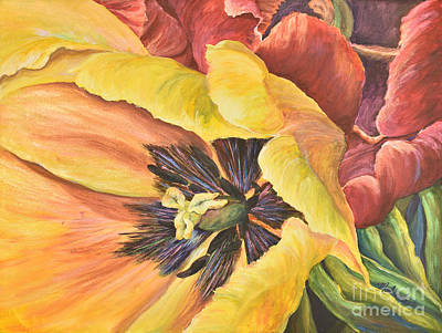 Spring Bulbs Painting - Tu-close-lips by Malanda Warner