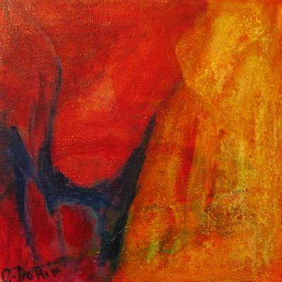 Artist Process Painting - Tu Est Passion by Carmelle Dorion