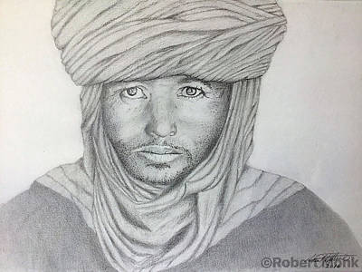 Drawing - Tuareg Beduin by Robert Monk