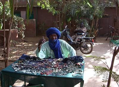 Sterling Silver Earring Photograph - Tuareg Man Selling Jewelry by Team Hazard