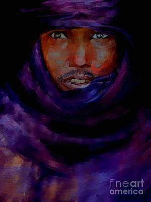 Mixed Media - Tuareg Nomad Mali by Vannetta Ferguson