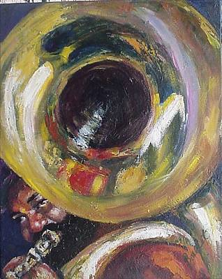 New Orleans Oil Painting - Tuba Fats by Beverly Boulet