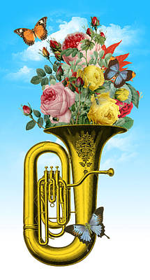 Painting - Tuba Flowers by Gary Grayson