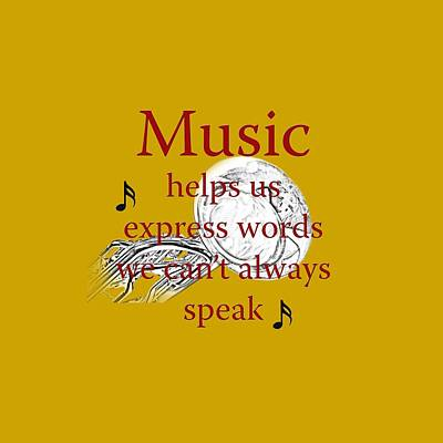 Sousaphone Photograph - Tuba Music Expresses Words by M K  Miller