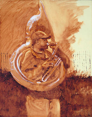 Tuba Player Original by Robert Bissett