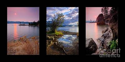 Triplet Photograph - Tubbs Hill Trio by Idaho Scenic Images Linda Lantzy