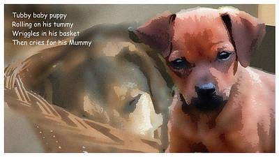 Digital Art - Tubby Puppy by Al G Smith