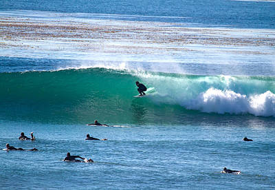 Photograph - Tube Riding At Swamis, Ca by Waterdancer