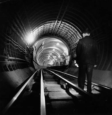 Tube Tunnel Cleaner Art Print by Charles Hewitt