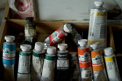 Photograph - Tubes Of Artists Water Color Paints by Todd Gipstein