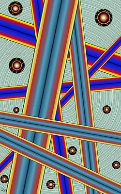 Digital Art - Tubes Two by Ron Bissett