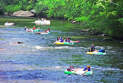 Photograph - Tubing Down The French Broad River by Duane McCullough