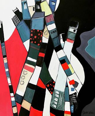 Painting - Tubular City by Judith Visker