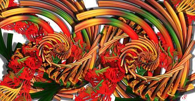 Digital Art - Tubular Rainbow by Ron Bissett