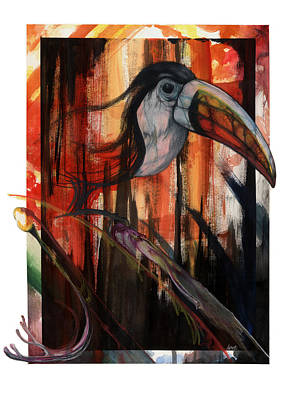 Mixed Media - Tucan by Anthony Burks Sr