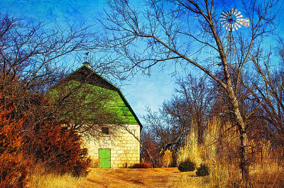 Photograph - Tucked Away Green Barn by Anna Louise