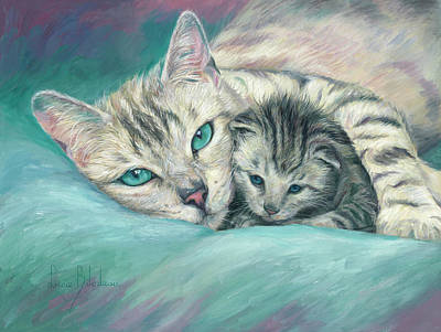 Painting - Tucked In by Lucie Bilodeau