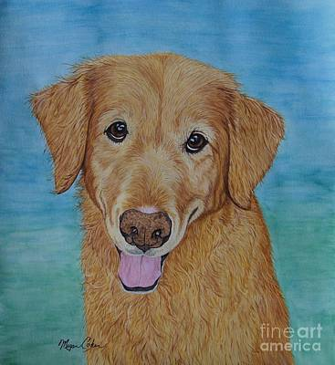 Dog Painting - Tucker The Golden Retriever by Megan Cohen