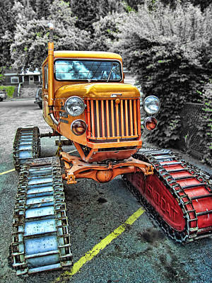 Snow Cat Photograph - Tucker Sno Cat -- Wallace Idaho by Daniel Hagerman