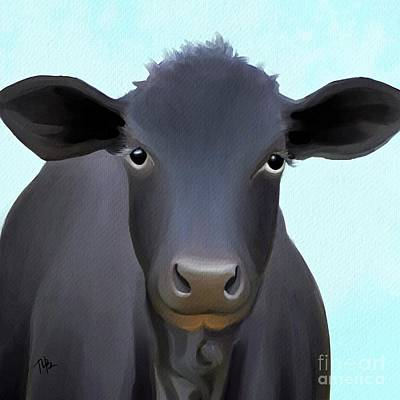 Painting - Tucker The Cow by Tammy Lee Bradley