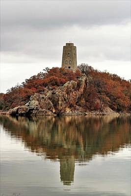 Photograph - Tucker Tower And Reflection by Sheila Brown
