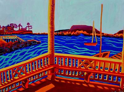 Painting - Tucks Point Gazebo View by Debra Bretton Robinson