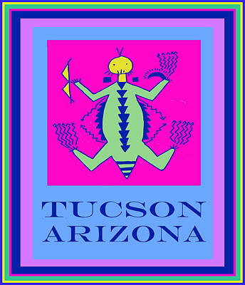 Digital Art - Tucson Arizona Petroglyph Poster by Vagabond Folk Art - Virginia Vivier