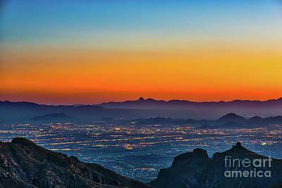 Tucson Glow Art Print by Tod and Cynthia Grubbs