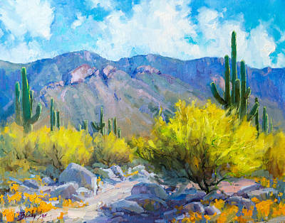 Becky Painting - Tucson Mountains by Becky Joy