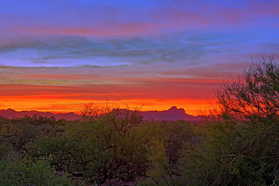 Photograph - Tucson Sunset H55 by Mark Myhaver