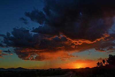 Mark Myhaver Royalty Free Images - Tucson Sunset h59 Royalty-Free Image by Mark Myhaver