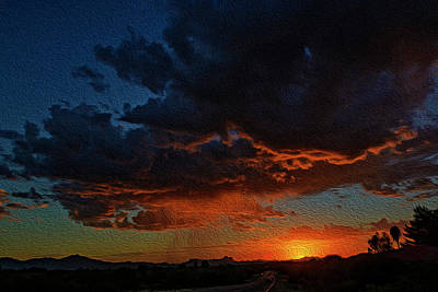 Photograph - Tucson Sunset Op60 by Mark Myhaver