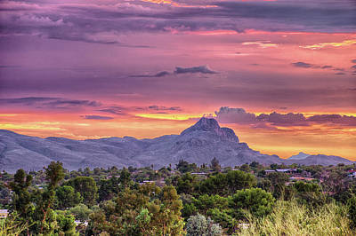 Photograph - Tucson Tonight by Charlie Alolkoy