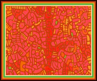 Digital Art - Tucson Wanderer Map by Vagabond Folk Art - Virginia Vivier