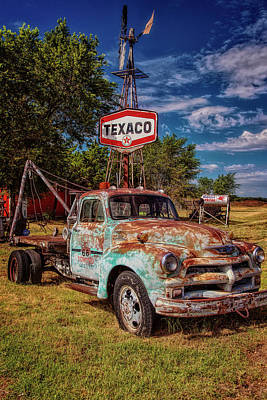 Tucumcari Trading Post Chevy Art Print by Diana Powell