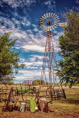 Tucumcari Trading Post Windmill Art Print by Diana Powell